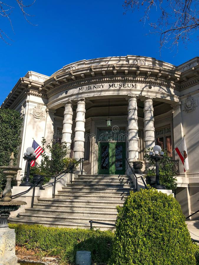 McHenry博物馆正面图  库存照片
