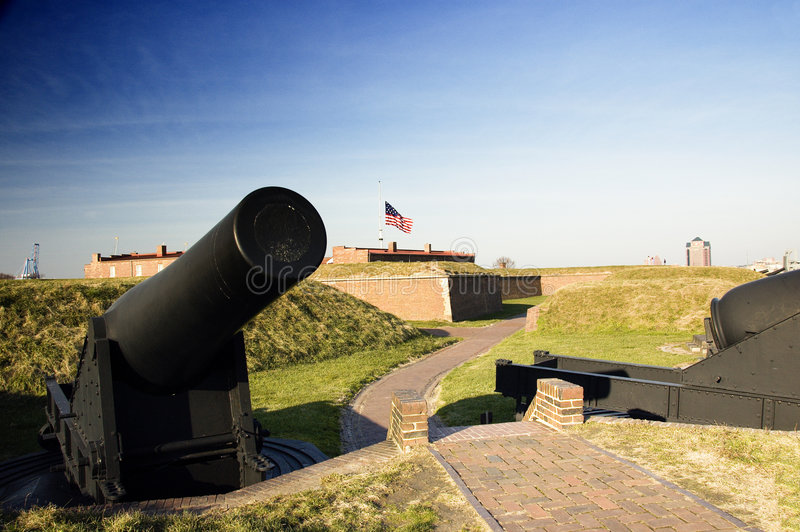 mchenry大炮的堡垒 免版税库存图片
