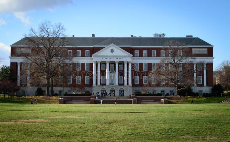 McKeldinbibliotheek, Universiteit van Maryland stock foto's