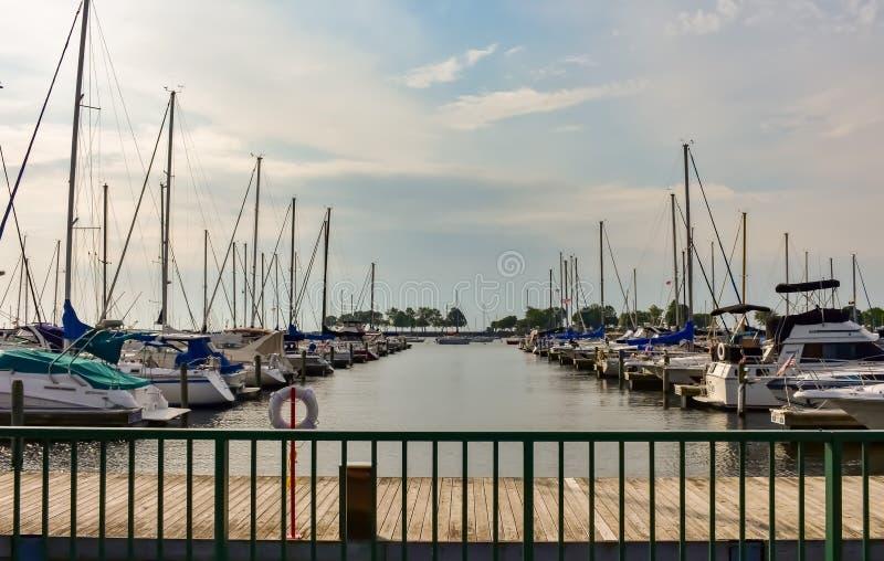 McKinley Marina Docks And Sail Boats photo stock