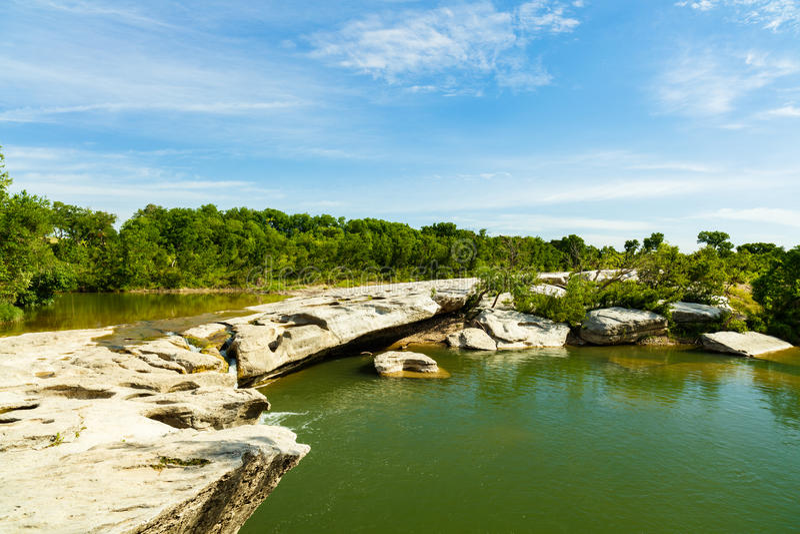 McKinney Falls Texas. The natural beauty of the McKinney Falls in Austin Texas stock photo