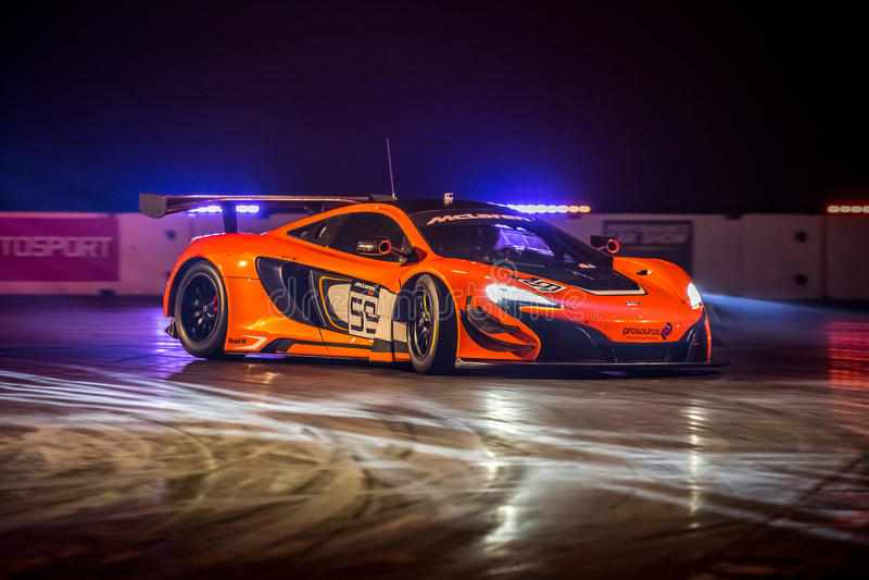 Mclaren 650 GT3, Autosport-International 2016 lizenzfreie stockfotografie