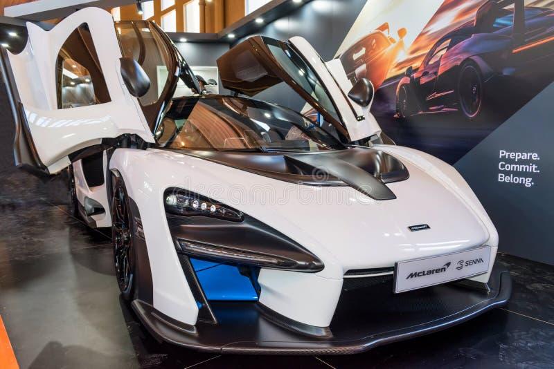McLaren-Kassienauto bei Motorclassica lizenzfreie stockfotos