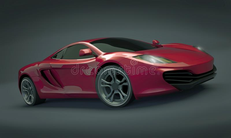 Mclaren MP4 12C supercar arkivbild