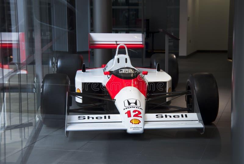 McLaren MP4/4 do Senna foto de stock