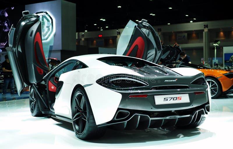 McLaren 570S på den 38th Bangkok internationella motoriska showen 2017 arkivfoton