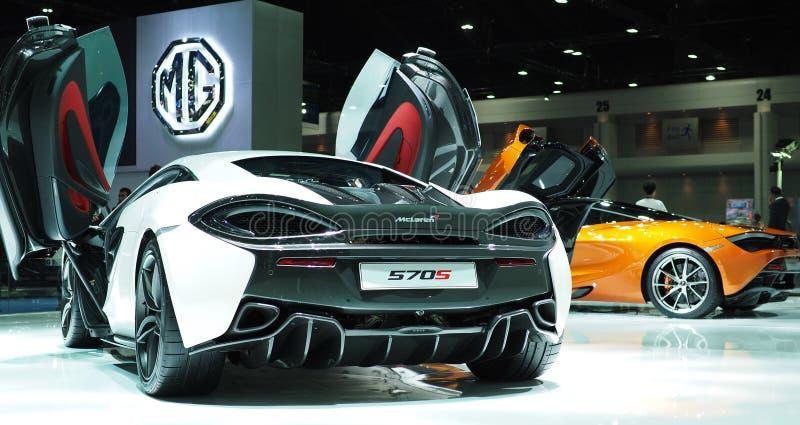 McLaren 570S at the 38th Bangkok International Motor Show 2017 royalty free stock image