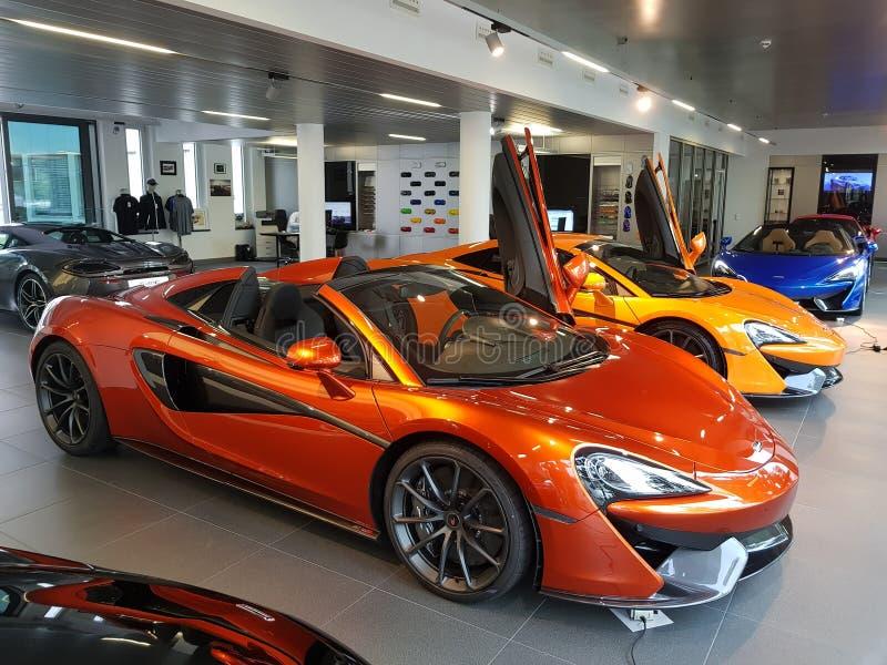 McLaren 570S uszeregowanie zdjęcia stock