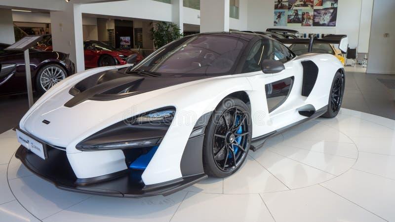 McLaren Senna Hyper Car in showroom royalty-vrije stock fotografie
