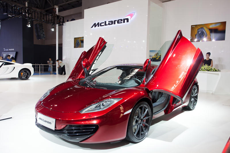 McLaren supercar. September 10, 2009 for McLaren (McLaren) special significance, with rival Ferrari after they (Ferrari) launched supercar, will again compete stock photography