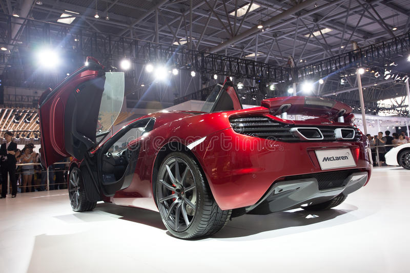 McLaren supercar. September 10, 2009 for McLaren (McLaren) special significance, with rival Ferrari after they (Ferrari) launched supercar, will again compete royalty free stock image