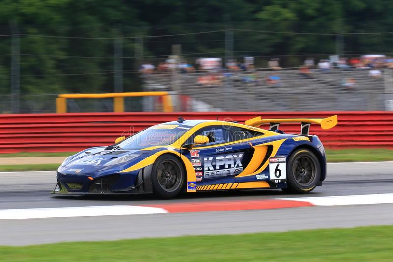 McLarenraceauto stock foto