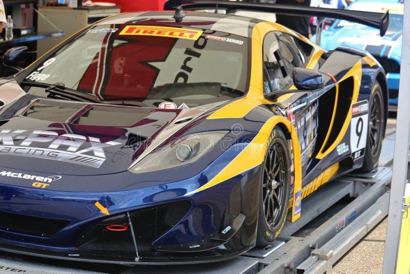 McLarenraceauto royalty-vrije stock afbeelding