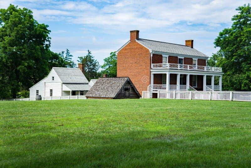 "Mclean议院†""南北战争的结尾的投降站点 免版税图库摄影"
