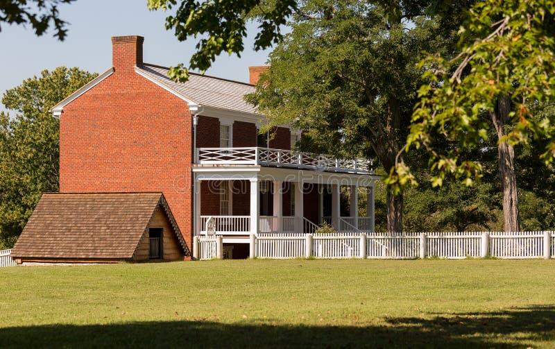 McLean dom przy Appomattox Dworskiego domu parkiem narodowym zdjęcia stock