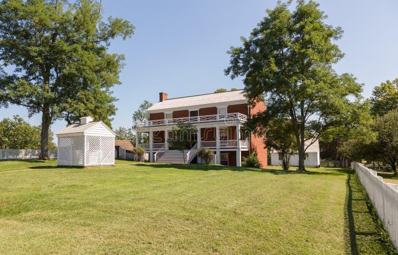 McLean dom przy Appomattox Dworskiego domu parkiem narodowym obraz royalty free