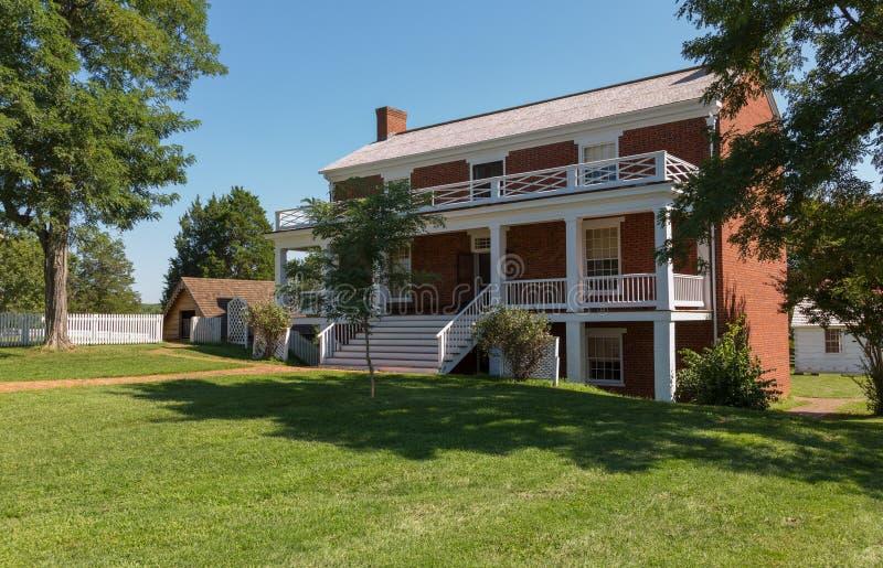 McLean dom przy Appomattox Dworskiego domu parkiem narodowym obraz stock