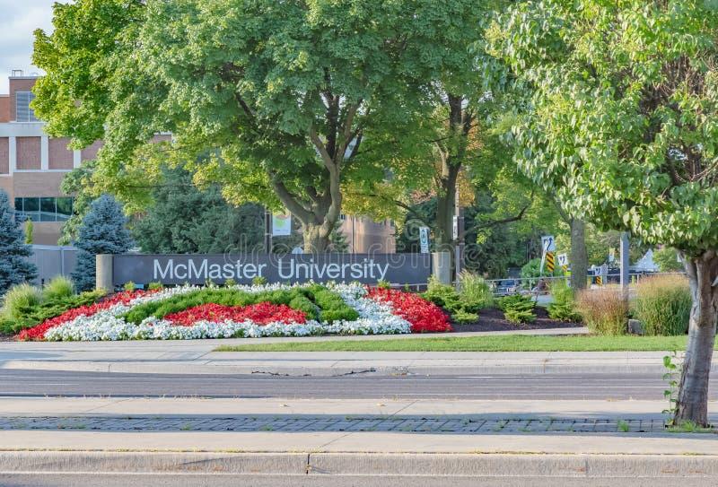 Mcmaster universitet Hamilton Ontario Canada arkivbild