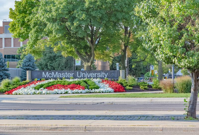 Mcmaster University Hamilton Ontario Canada. Is one of the leading teaching centers in Canada; a pioneer of shortened medical school attendance from 4 years to stock photography
