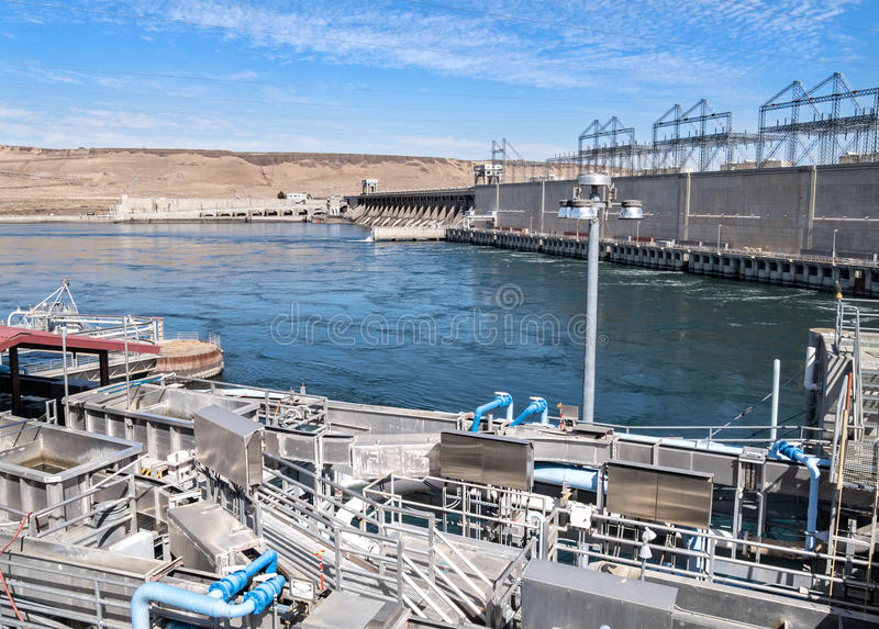 McNary Lock and Dam. On the Columbia River royalty free stock image