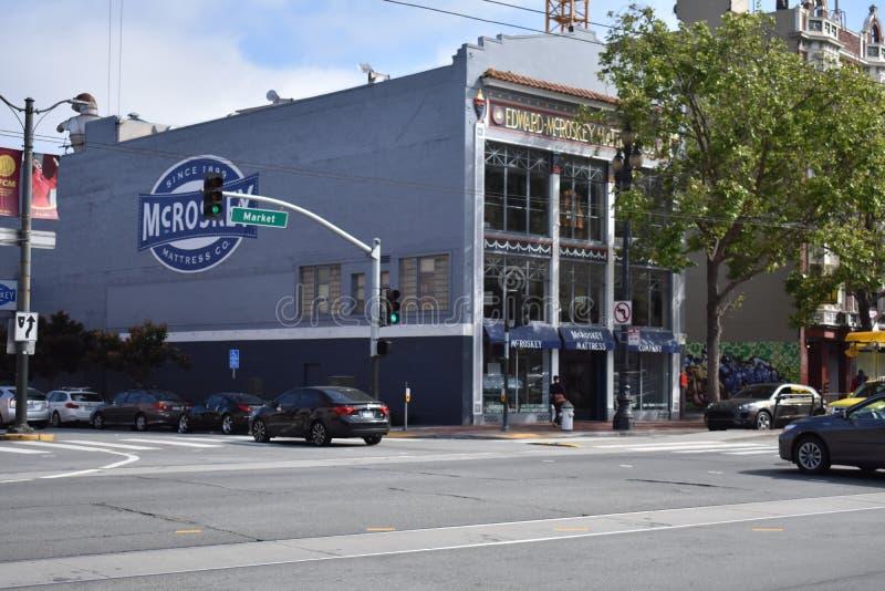 McRoskey, ένα από τα παλαιότερα καταστήματα στρωμάτων στο Σαν Φρανσίσκο στοκ φωτογραφίες
