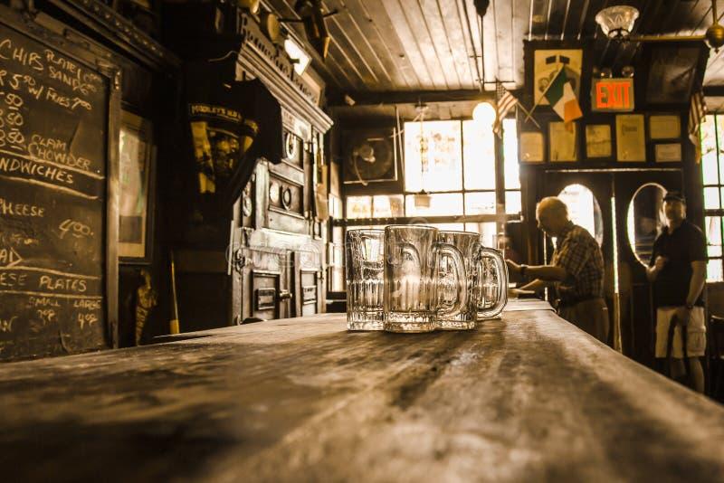 McSorleys老强麦酒议院爱尔兰客栈NYC 免版税库存图片