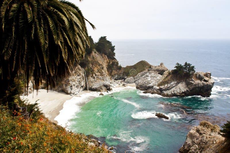 McWay秋天,大Sur,加利福尼亚 图库摄影