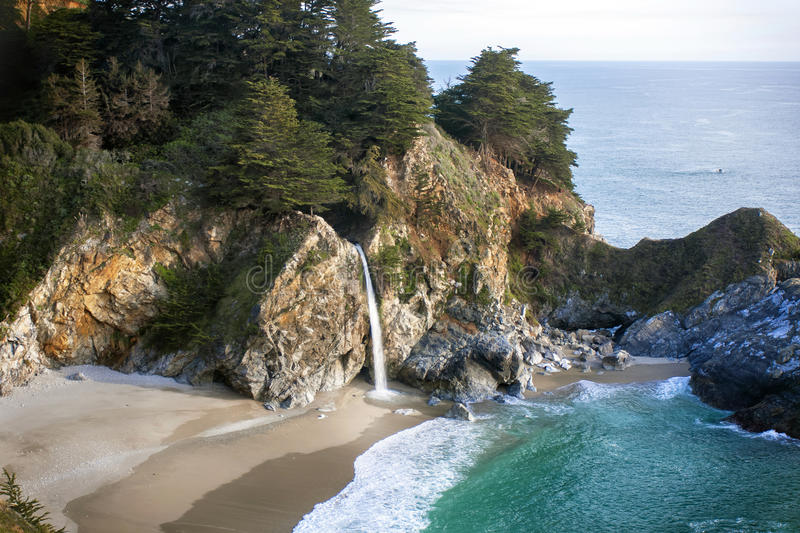 McWay Falls afternoon stock images