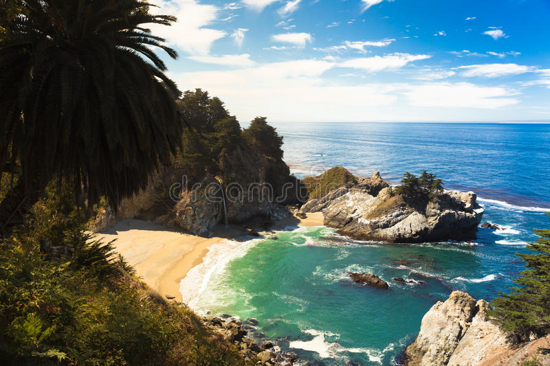 McWay Falls, Sea cliff royalty free stock photography