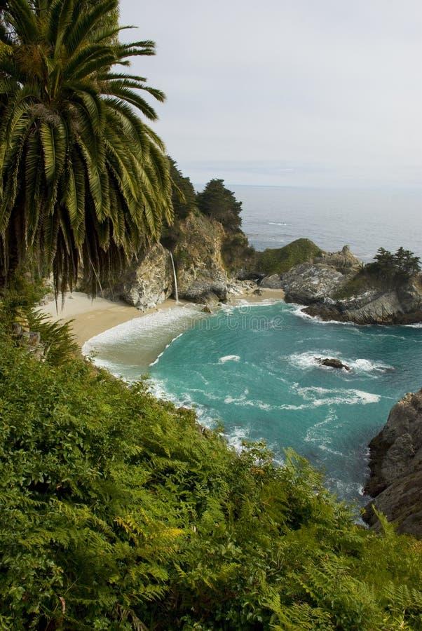 McWay tombe sur la côte de la Californie près de Big Sur photographie stock