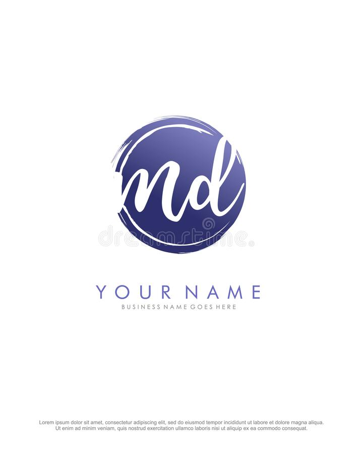 MD initial square logo template vector. A logo design for company and identity business. Initial square logo template vector. A logo design for company and vector illustration