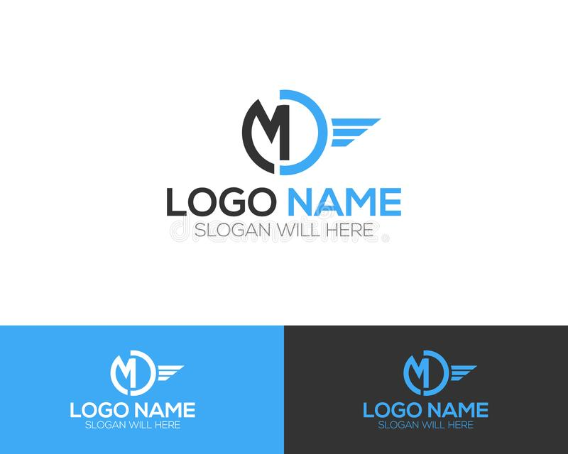 MD Letter Logo Template online store vectors illustration. This is very easy to use. U ca Use as your won simply royalty free illustration