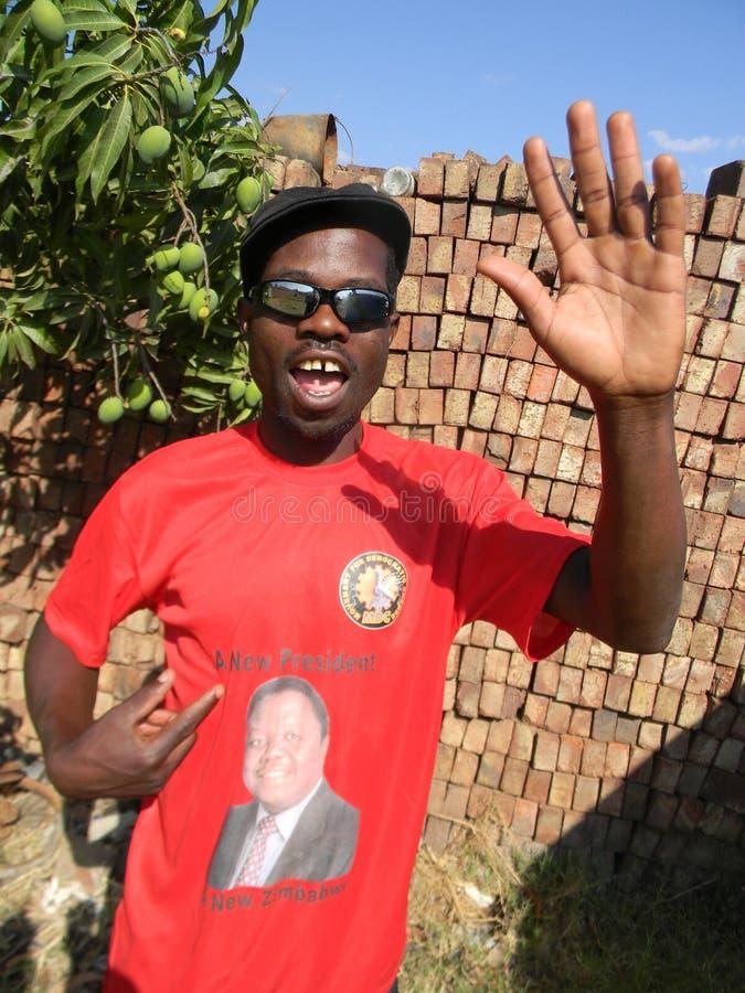 Mdc-partiaktivist i Zimbabwe royaltyfri foto