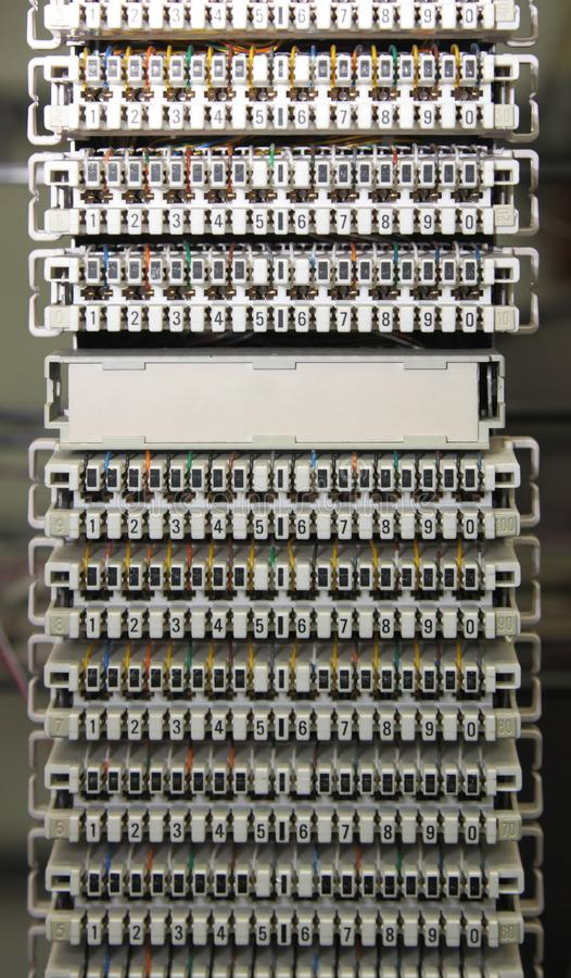 MDF Telecomunications стоковое фото