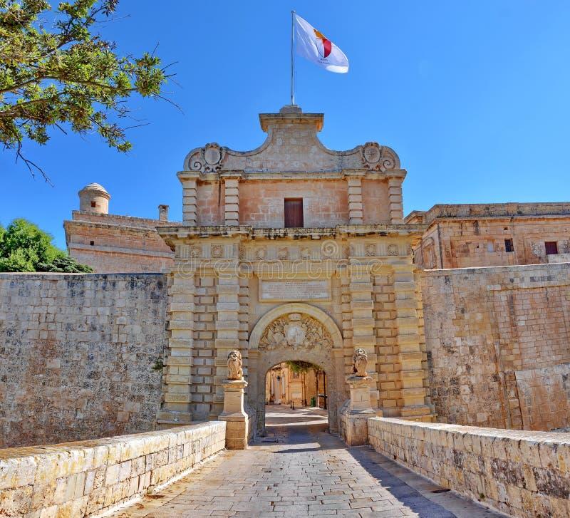 Mdina, Мальта стоковое изображение rf