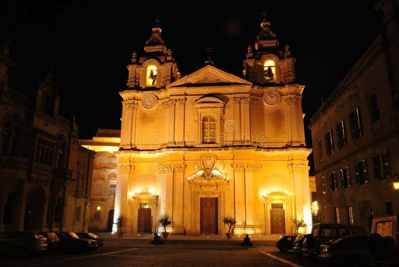 mdina собора стоковое изображение rf