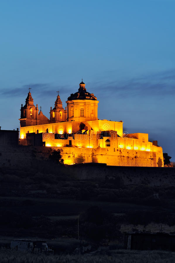Free Mdina By Night Royalty Free Stock Images - 22410029
