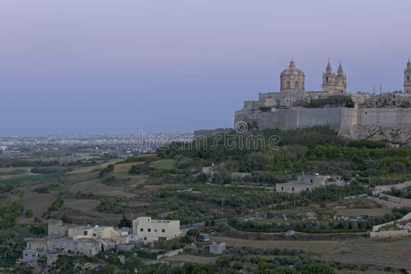 Mdina at Dusk stock photography