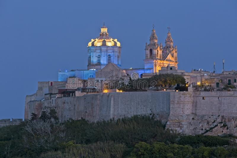 Mdina at Dusk royalty free stock photo