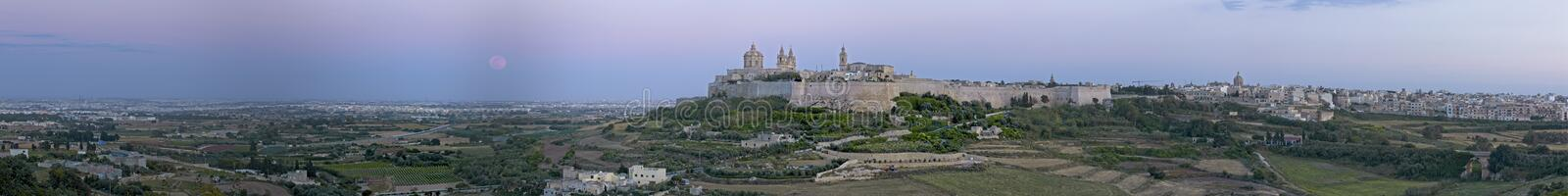 Mdina at Dusk royalty free stock photography