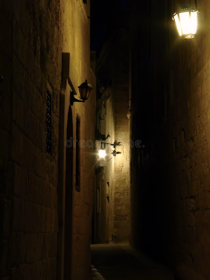 Mdina em Noite imagens de stock