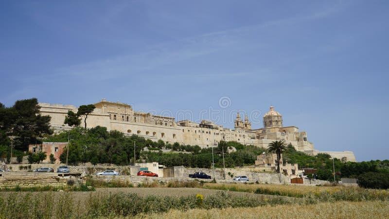 Mdina Festung, Malta lizenzfreie stockfotos