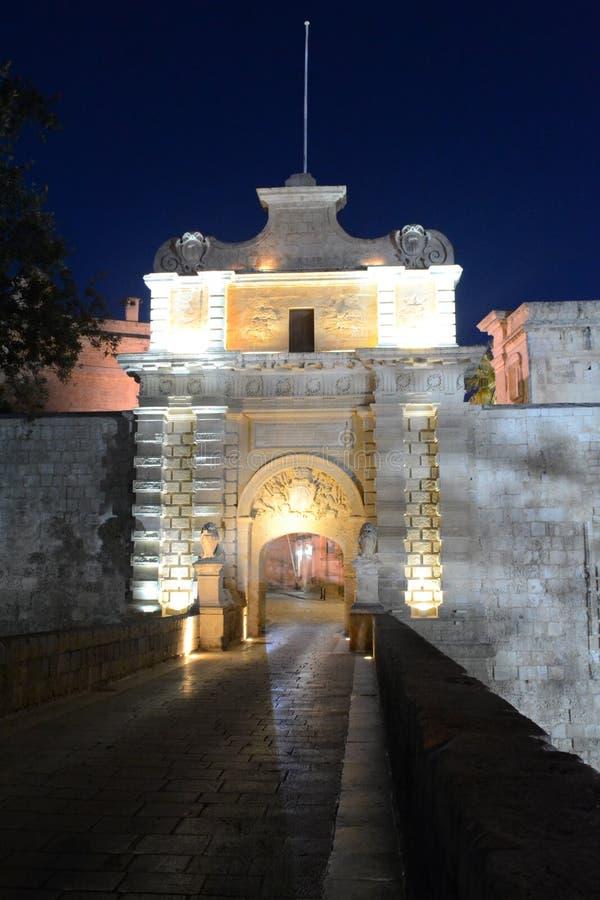 Mdina gammal stad Malta royaltyfri bild