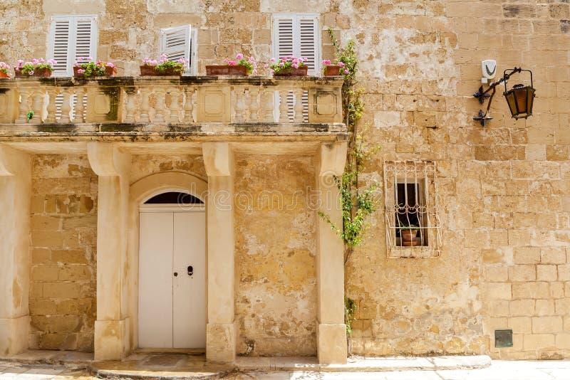Mdina Malta. Hoogten van het eiland Malta stock afbeeldingen
