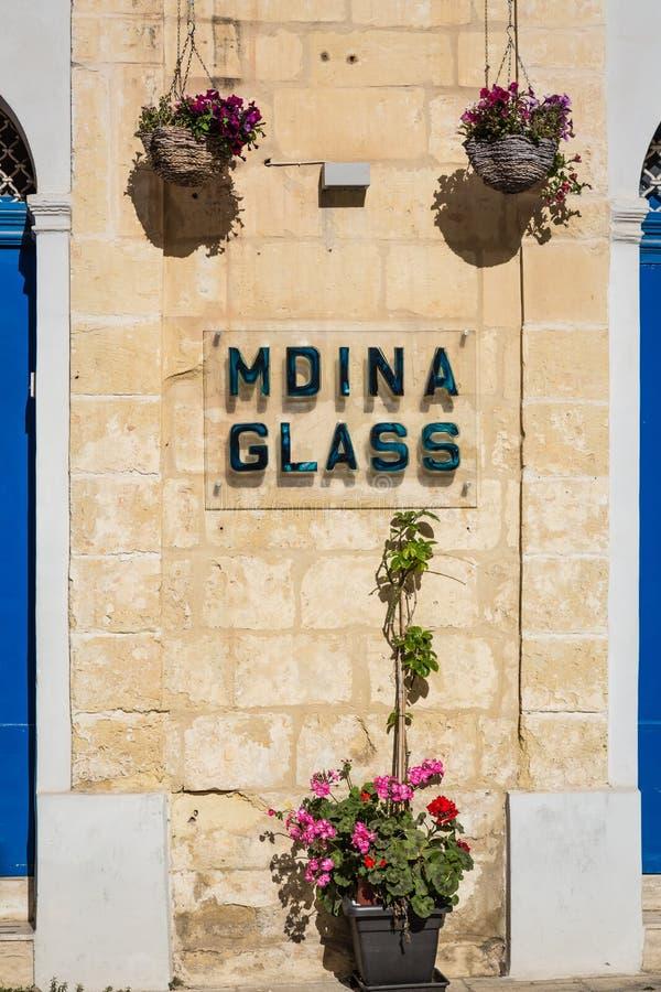 Mdina, Malta - 4 maggio 2016: Dettagli delle vie silenziose del fotografia stock libera da diritti