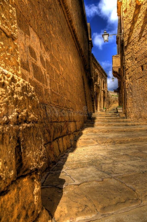 Mdina Pathway in Gozo royalty free stock photos