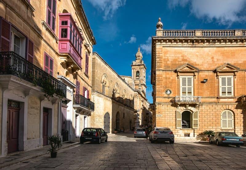 Mdina Rabat Cidade velha Ilha de Malta fotos de stock royalty free