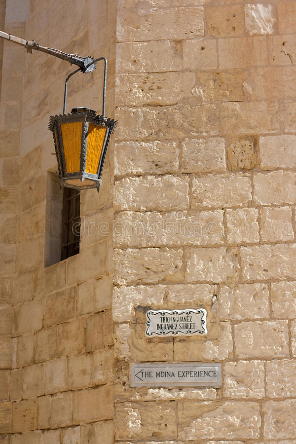 Mdina Street Scene Royalty Free Stock Images