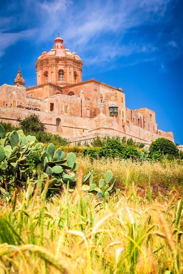 Mdina, warowny miasto na Malta wyspie obraz stock