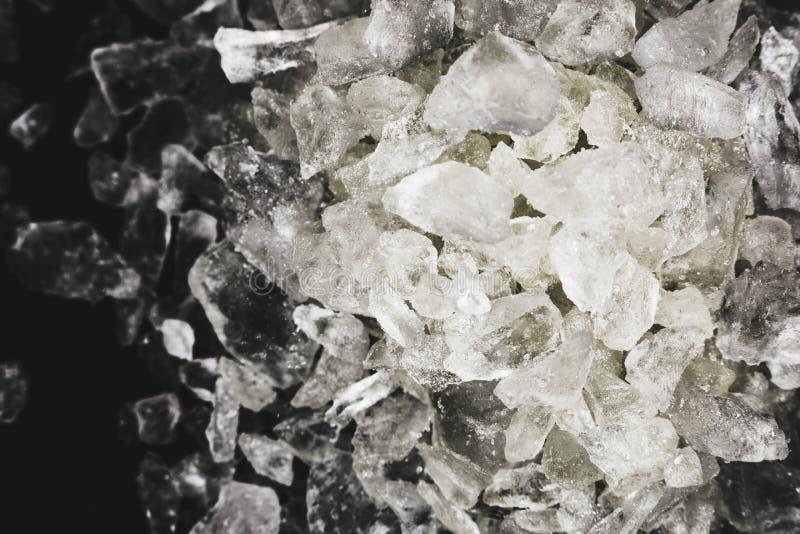 MDMA, het belangrijkste bestanddeel van ecstasy-pillen in zuivere vorm royalty-vrije stock fotografie